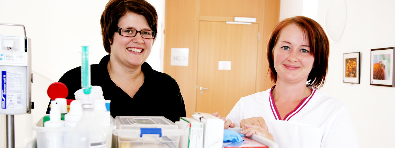 Pflegepersonal im Diakonissen-Krankenhaus Linz