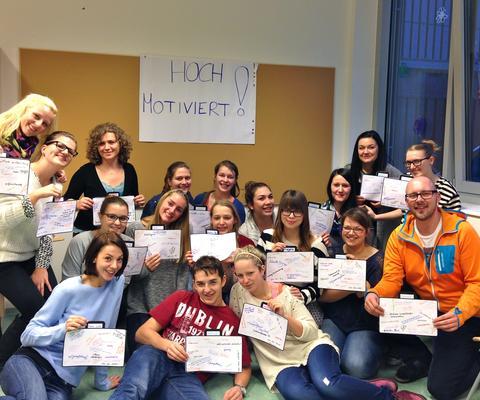 SchülerInnen am Bildungszentrum Diakonissen Linz
